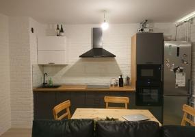 Кухня Графит Белый Дерево